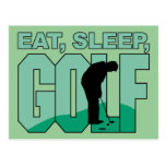 Eat Sleep Golf Postcard