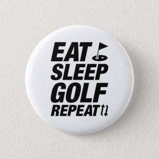 Eat Sleep Golf Repeat 2 Inch Round Button
