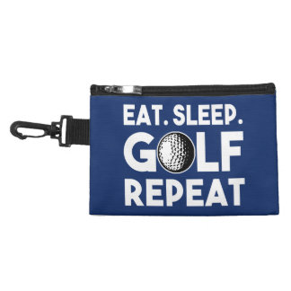 Eat Sleep Golf Repeat funny golf bag