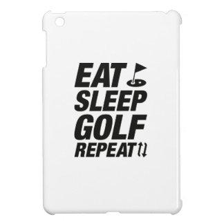 Eat Sleep Golf Repeat iPad Mini Cover