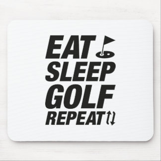 Eat Sleep Golf Repeat Mouse Pad