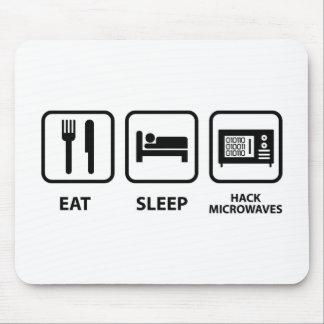 Eat Sleep Hack Microwaves Mouse Pad