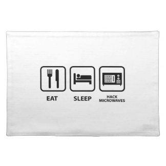 Eat Sleep Hack Microwaves Placemat