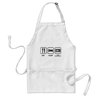 Eat Sleep Hack Microwaves Standard Apron