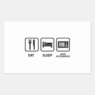 Eat Sleep Hack Microwaves Sticker