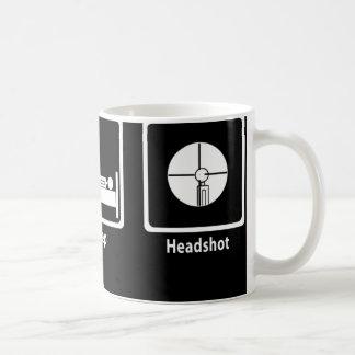 Eat Sleep Headshot - FPS Gamer Coffee Mug