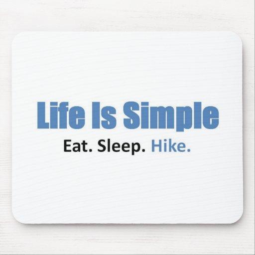Eat, Sleep, Hike Mousepad
