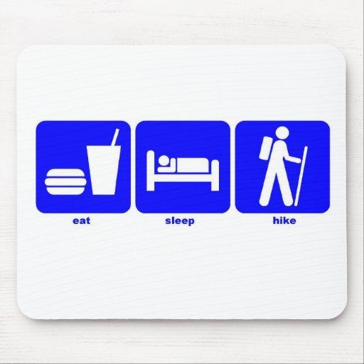 eat sleep hike mouse pads