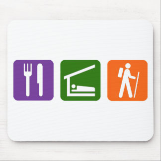 Eat Sleep Hiking Mouse Pad
