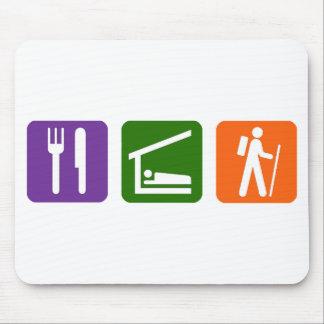 Eat Sleep Hiking Mouse Pad