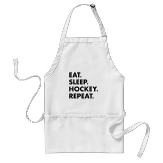 Eat Sleep Hockey Repeat Standard Apron