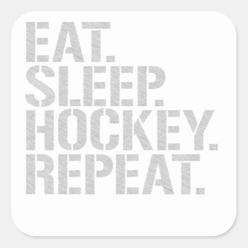 Eat Sleep Hockey Repeat Stickers