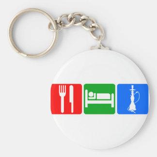 Eat,Sleep,Hookah Basic Round Button Keychain