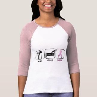 Eat Sleep Hope - Breast Cancer T-Shirt