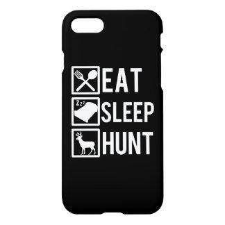 Eat Sleep Hunt funny phone case