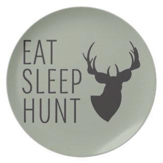 Eat Sleep Hunt Party Plate