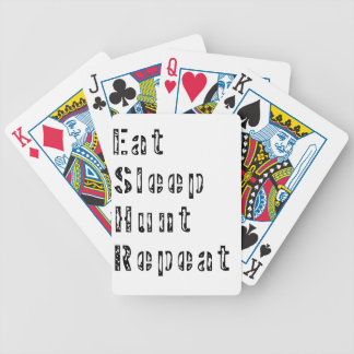Eat Sleep Hunt Repeat Bicycle Playing Cards