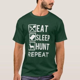 Eat sleep hunt repeat funny men's T-shirt