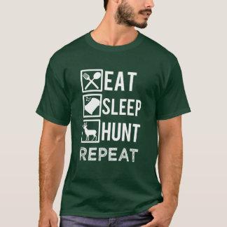 Eat sleep hunt repeat funny men's T-shirt