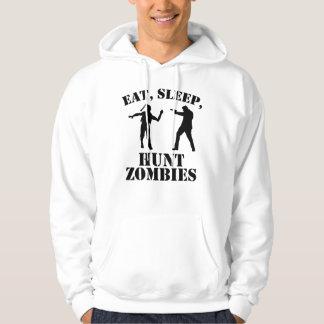 Eat Sleep Hunt Zombies Hoodie
