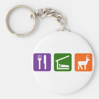 Eat Sleep Hunting Keychain