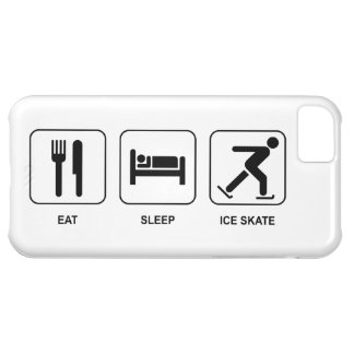 Eat Sleep Ice Skate Cover For iPhone 5C