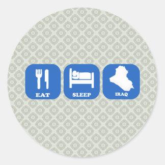 Eat Sleep Iraq Classic Round Sticker