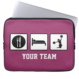 Eat Sleep Jump Cheerleader Neoprene Laptop Sleeve
