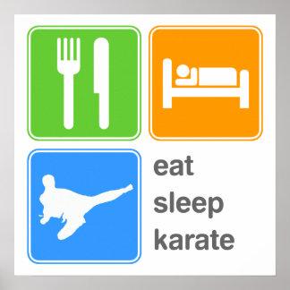 Eat Sleep Karate Poster