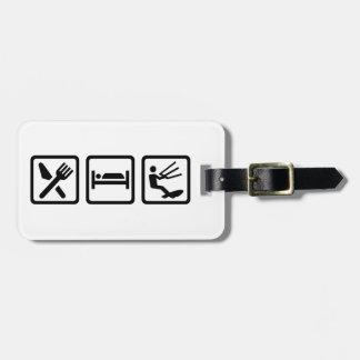 Eat sleep Kitesurfing Luggage Tag