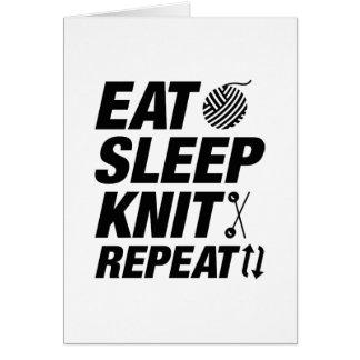 Eat Sleep Knit Repeat Card