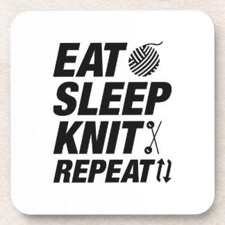Eat Sleep Knit Repeat Coaster
