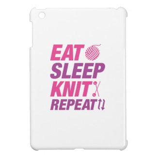 Eat Sleep Knit Repeat iPad Mini Covers