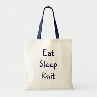 Eat Sleep Knit Tote Bag
