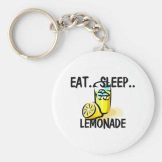 Eat Sleep LEMONADE Keychain