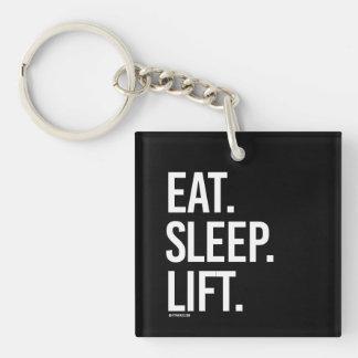 Eat Sleep Lift -   Guy Fitness -.png Single-Sided Square Acrylic Keychain