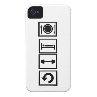 Eat, sleep, lift, repeat. Case-Mate iPhone 4 case
