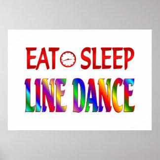 Eat Sleep Line Dance Poster