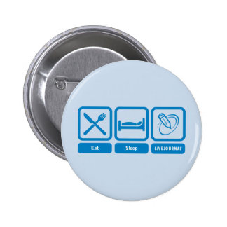 Eat, Sleep, LiveJournal 2 Inch Round Button