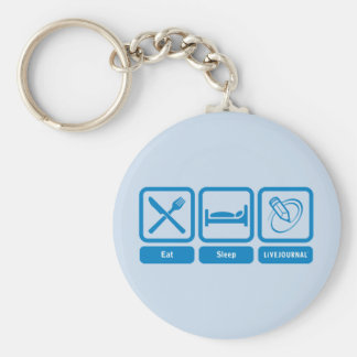 Eat, Sleep, LiveJournal Keychain