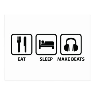 Eat Sleep Make Beats Postcard
