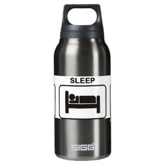 """Eat - Sleep - Marshal"" by Flagman Insulated Water Bottle"