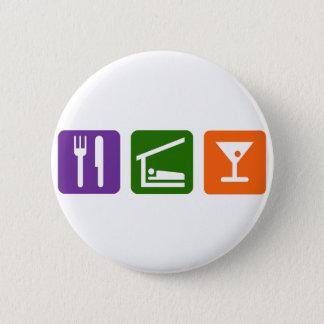 Eat Sleep Martini 2 Inch Round Button