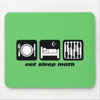 eat sleep math mouse pad