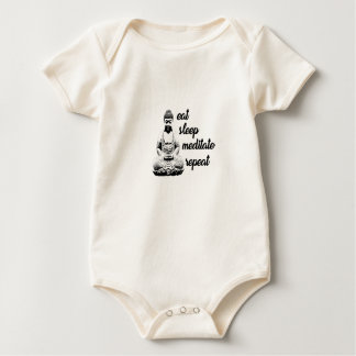 Eat, sleep, meditate, repeat baby bodysuit
