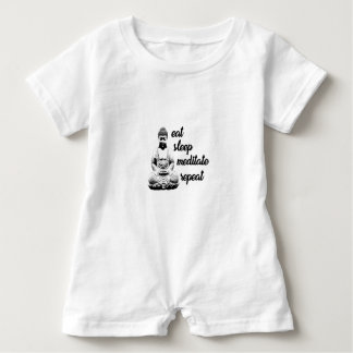 Eat, sleep, meditate, repeat baby romper