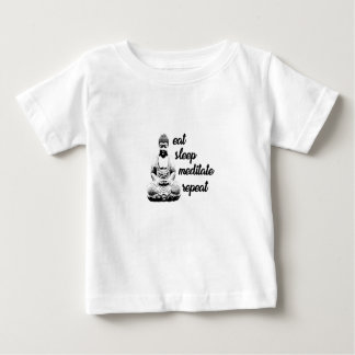 Eat, sleep, meditate, repeat baby T-Shirt