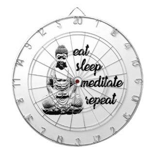 Eat, sleep, meditate, repeat dartboard
