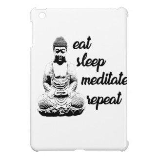 Eat, sleep, meditate, repeat iPad mini cover