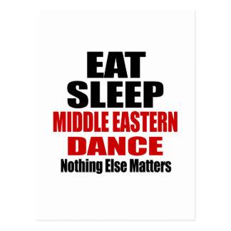 EAT SLEEP MIDDLE EASTERN POSTCARD